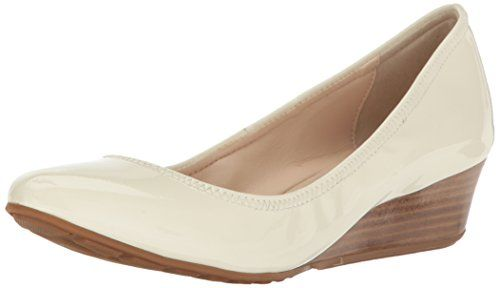 Cole  Haan  womens  tali  luxe  40  wedge  pump  ivory  patent