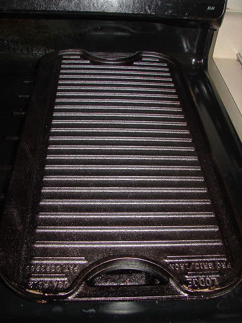 Ridged side of my new Lodge griddle