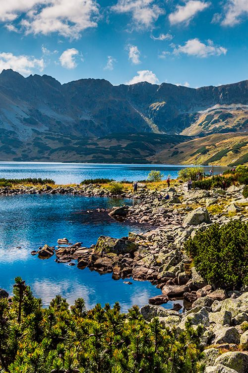 If you haven't considered a trip to Slovakia, you should! Check out 5 lakes valley in the High Tatra Mountains #Slovakia