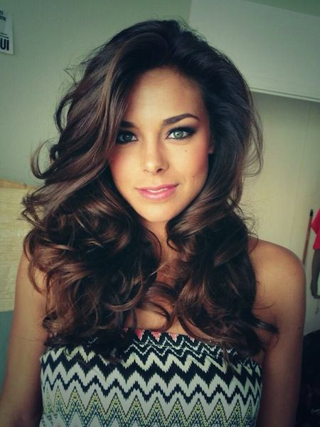 Blow Out Hair - Medium long blow out for curl glam hair.  Love those waves.  Cute hairstyles for medium length hair.
