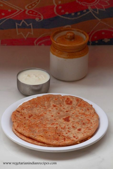 Cabbage paratha recipe is a tasty, healthy and easy to make indian breakfast dish. It is made with stuffed cabbage.