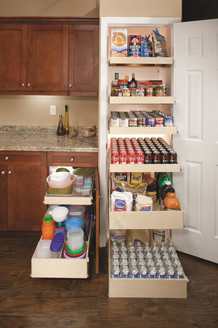 36 best Pantry Organization Pull Out Storage Shelving Systems