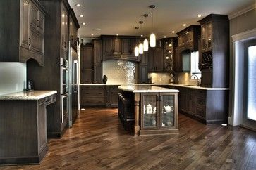 Weathered Slate Stunner! traditional kitchen cabinets