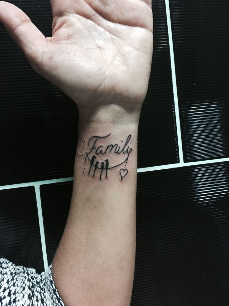 Small tattoo for family -jimmactattoostudio