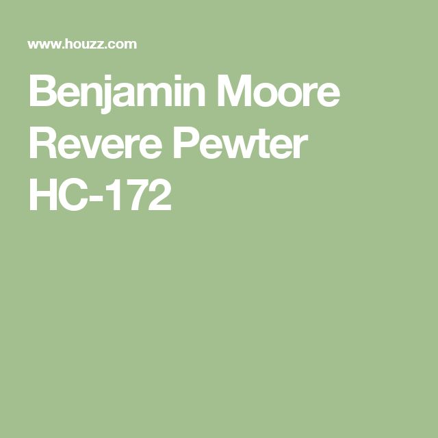 Benjamin Moore Revere Pewter HC-172