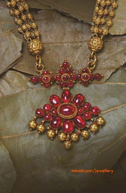 Antique ruby necklace