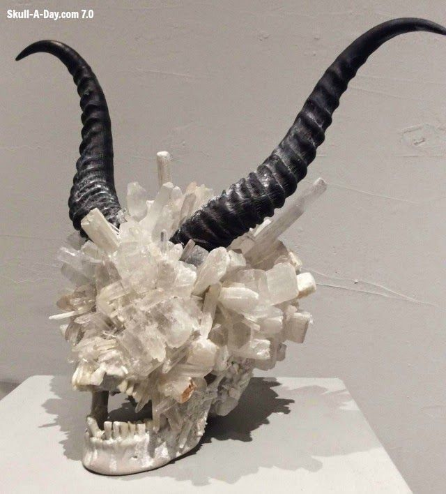 """Genus Open Jaw"", made of Quartz, sellinite,marble powder, and resin, by Alexis Karl"