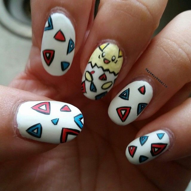 Togepi #pokemonnails #pokemontheme #pokemonnailart #pokemon #togepi  #togepinails #togepinailart #. Gel Nail DesignsNails ... - 13 Best Pokemon Nail Art Images On Pinterest Nailart, Gel Nail