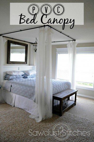 PVC Bed Canopy Sawdust2Stitches.com