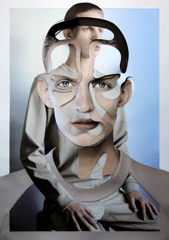 Damien Blottiere's Collaged Assemblies