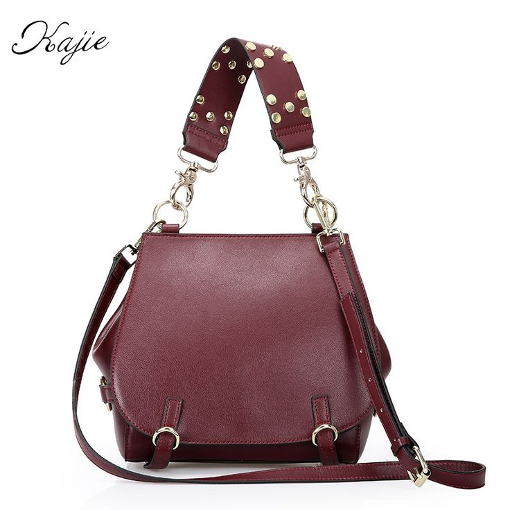 53.83$  Watch now - http://ali3lh.shopchina.info/go.php?t=32806307020 - Kajie 2017 Summer Vintage Genuine Cowhide Leather Ladies Small Handbag Women Designer Bolsas Femininas Bolsas De Marcas Famosas  #aliexpressideas