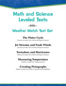 Track the weather with this #LeveledText Set! Students will measure the temperature, learn about jet streams and trade winds, create pictographs, and more! #differentiation #science Reading Levels: 1.6-6.7