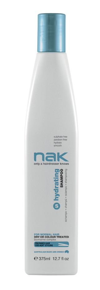 nak hydrating shampoo / designed for normal hair - dry or colour treated #sulphatefree #parabenfree #hydrate #smooth