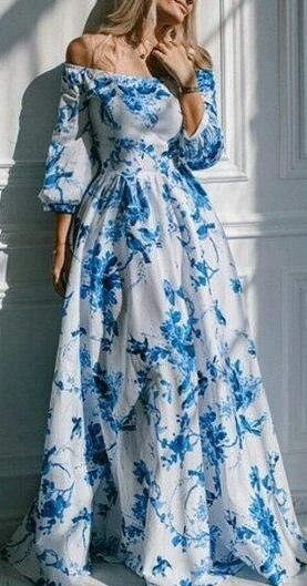 Romoti Drunk In Love Floral Off The Shoulder Maxi Dress.Only &38.59,enjoy free shipping in Romoti.com