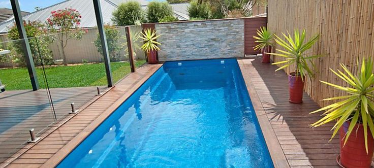 Loved this above ground lap pool with deck house renos - Above ground fibreglass swimming pools ...