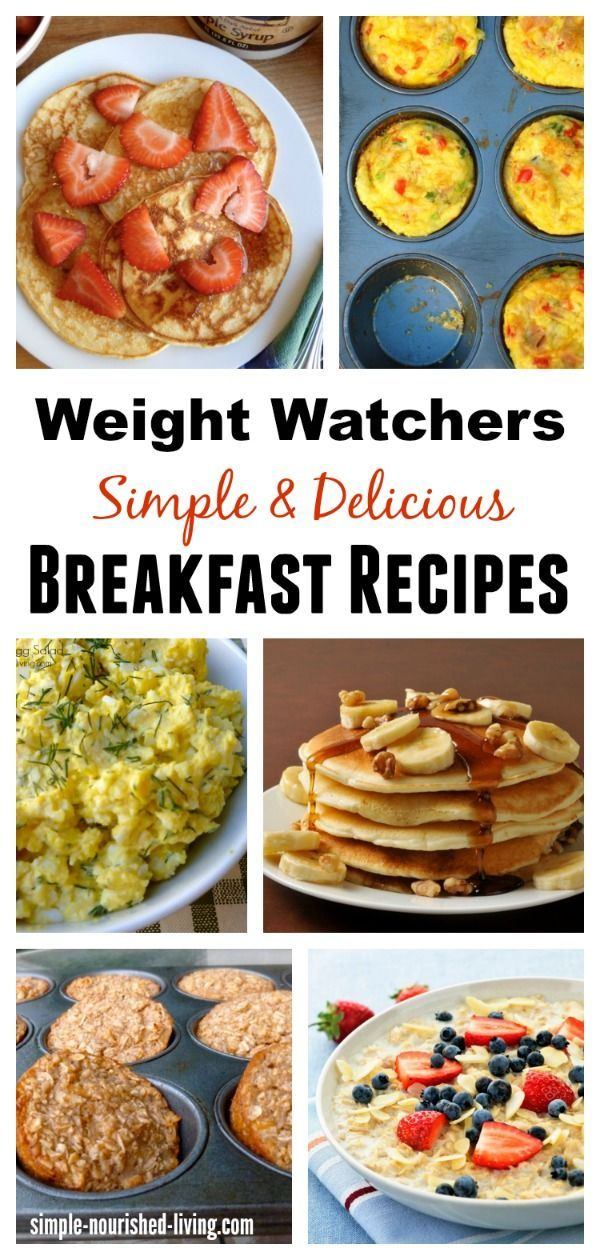 Weight Watchers Breakfast Recipes Collection, Simple, Healthy, Delicious, all with calories and Points Plus for staying on track with menus & meal planning