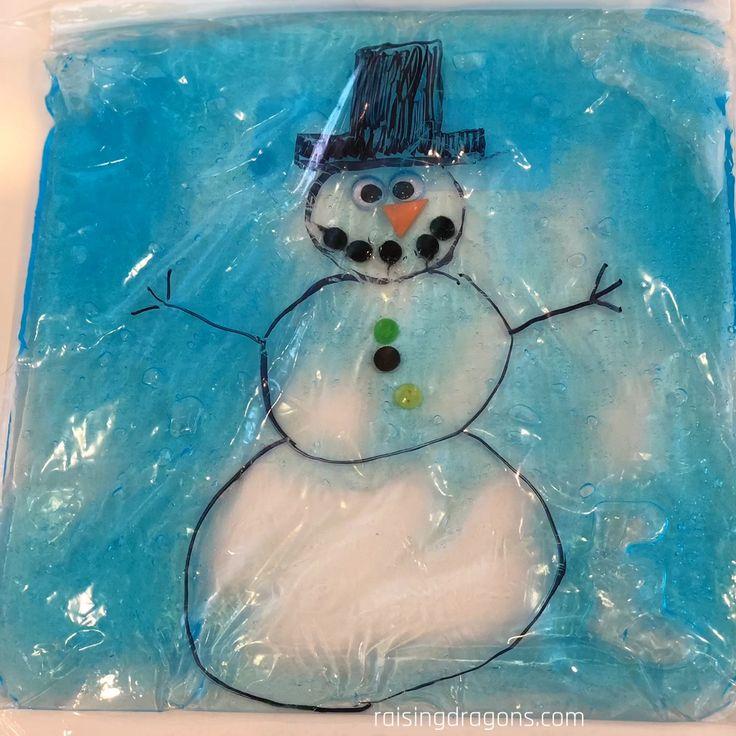 Build-A-Snowman Winter Sensory Bag * ages 2+ ⋆ Raising Dragons
