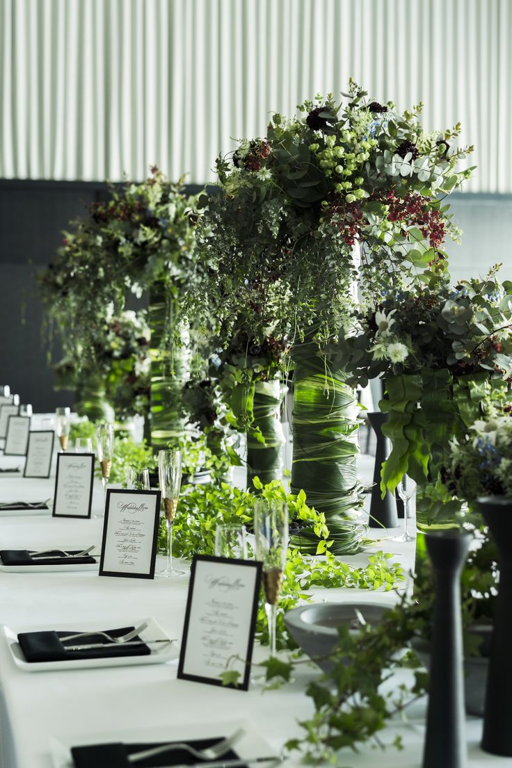 # Vress et Rose # Wedding # whitegreen  # table coordinate#guest table# natural…