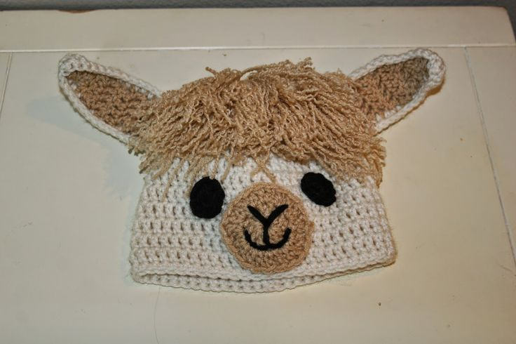 This crochet hat by the Crafty Flutist is a great for Alpaca fans.