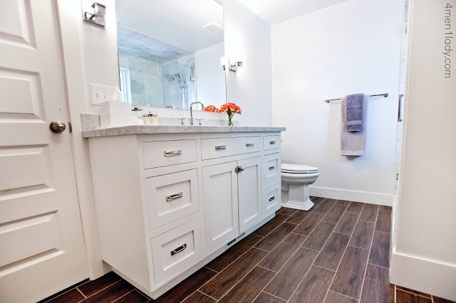 2perfection Decor Basement Coastal Bathroom Reveal: 24 Best Tile Looks Like Hardwood Images On Pinterest