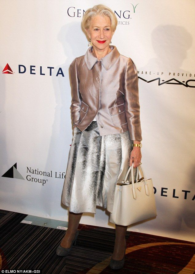 Star of the show: Helen Mirren oozed heaps of glamour as she joined a star-studded crowd a...