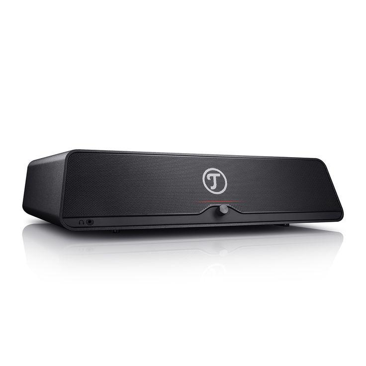 Teufel Mediadeck jetzt kaufen! Klangstarkes 2.1 Multimedia-Sounddeck für PC-Monitore, Laptops oder den TV mit vielen Gadgets ✔ Detailreicher Stereoklang durch 2-Wege-System & weit außen gesetzte Hochtöner! Starke Bass-Performance durch zusätzlichen Subwoofer