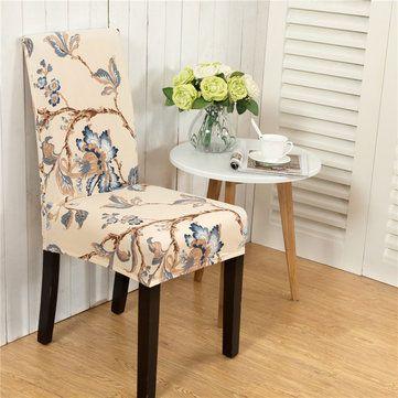 Elegant Flower Landscape Elastic Stretch Chair Seat Cover Computer Dining Room Home Wedding Decor