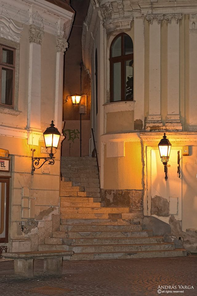 Szekesfehervar, Hungary, entering into the Stairs street