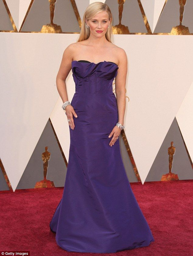 Jet set star: Reese headed to Mexico after attending the Academy Awards on Sunday, where s...