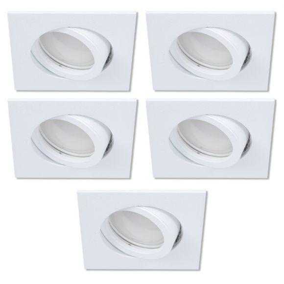 LED-Einbaustrahler als 5er-Set in Weiß 4-fach dimmbar