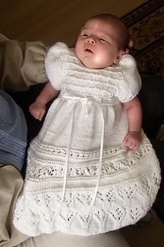 Knitted Christening gown