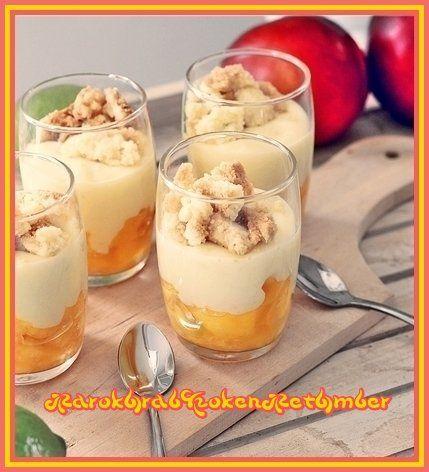 Perziktaart in een glas - 50plusser.nl