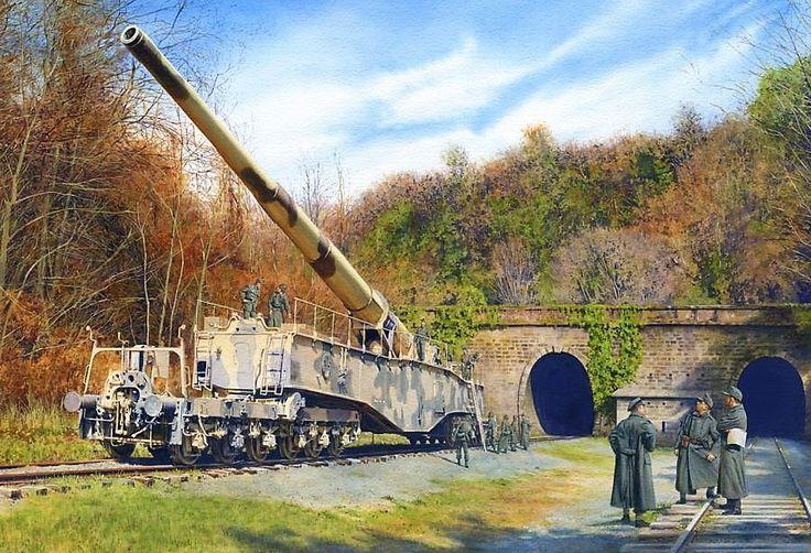 Cañón ferroviario de 28 cm en Metz, capaz de disparar un proyectil de 255 kilos a 38 millas de distancia, cortesía de Steve Noon. Más en http://www.elgrancapitan.org/foro/viewtopic.php?f=12&t=17519&p=870370#p870370
