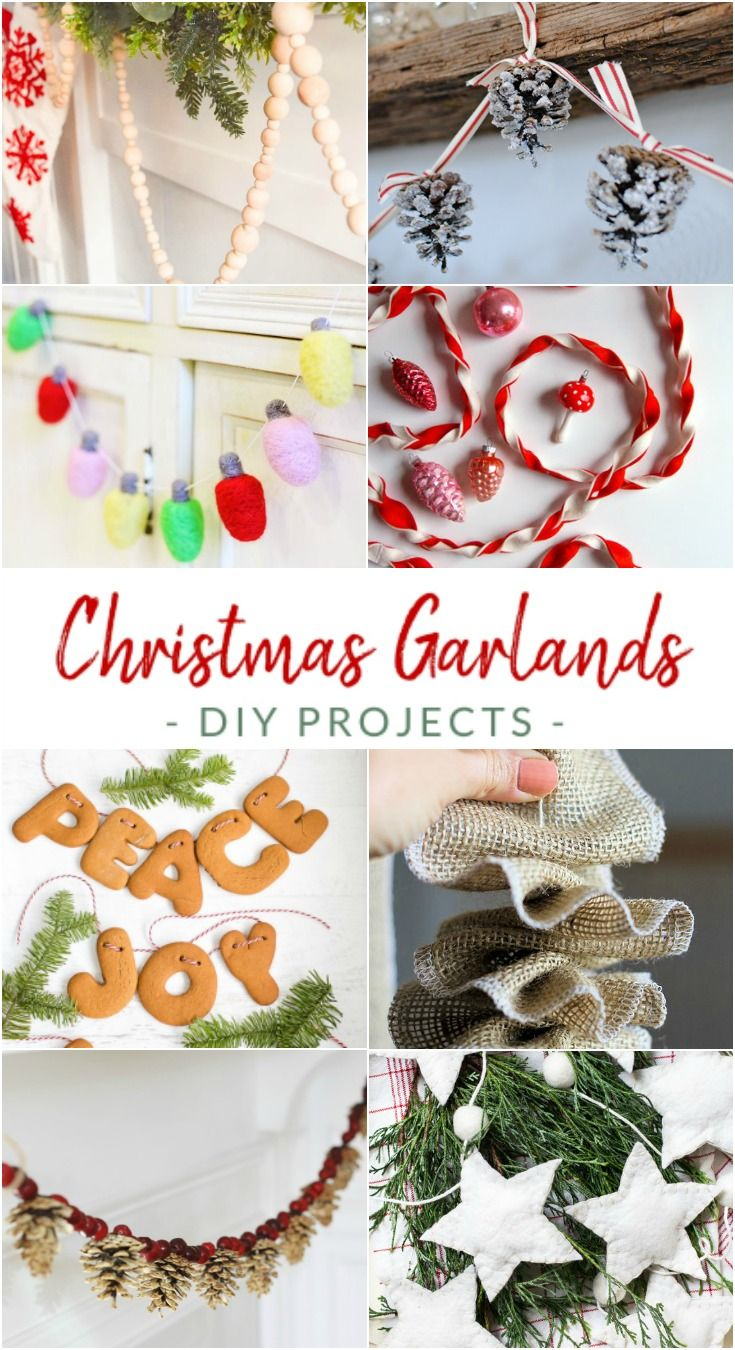 15 New And Unexpected Christmas Tree Garland Ideas Diy Christmas Garland Christmas Tree Garland Diy Christmas Tree Garland