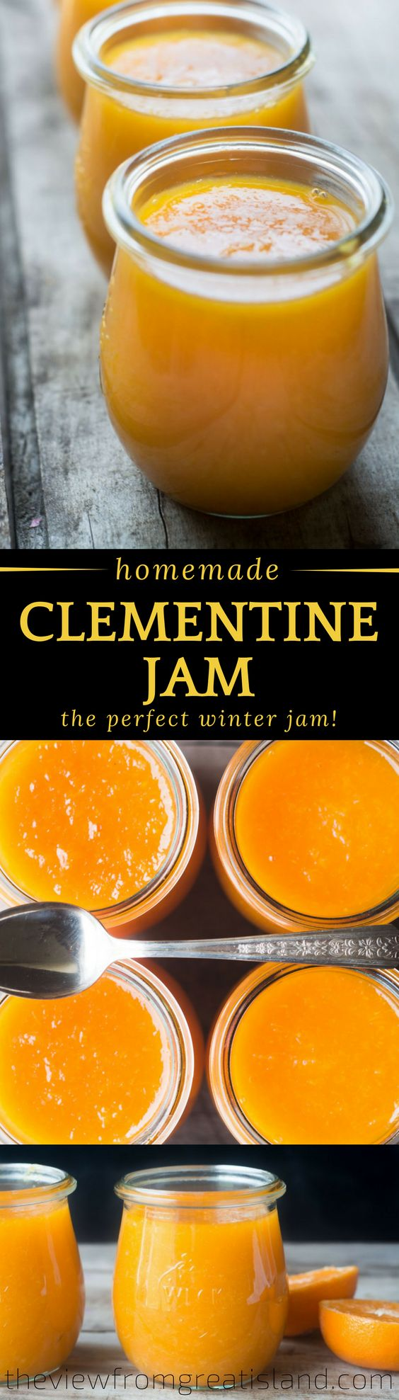 Clementine Jam has a unique, brilliantly fresh flavor that plays well with all kinds of toast, croissants, scones, and biscuits.  #jam #preserves #Clementines #citrus #marmalade #canning #winter #breakfast #tangerines #citrusfruit #citrusjam #glutenfree  Food, easy recipes, quick recipes, easy dinner recipes, healthy dinner, healthy recipes, restaurant reviews, best new restaurants, food porn, cocktail recipes, summer cocktails, easy cocktails.