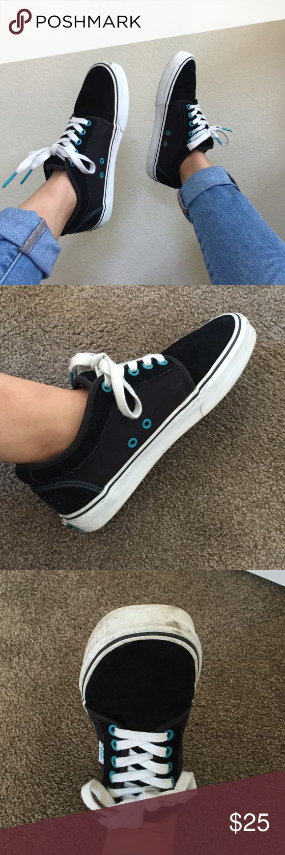 Vans Chukka Low Vans chukka low! In great condition with minor scuffs (as shown). Really comfy but no longer my style. Has accents of teal. Sole is in great condition since they haven't been worn in Vans Shoes Sneakers