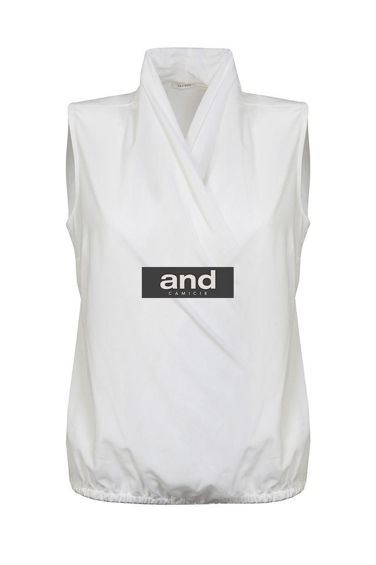 top blusa bianca da donna della collezione autunno inverno 2014/2015di And  Camicie. La
