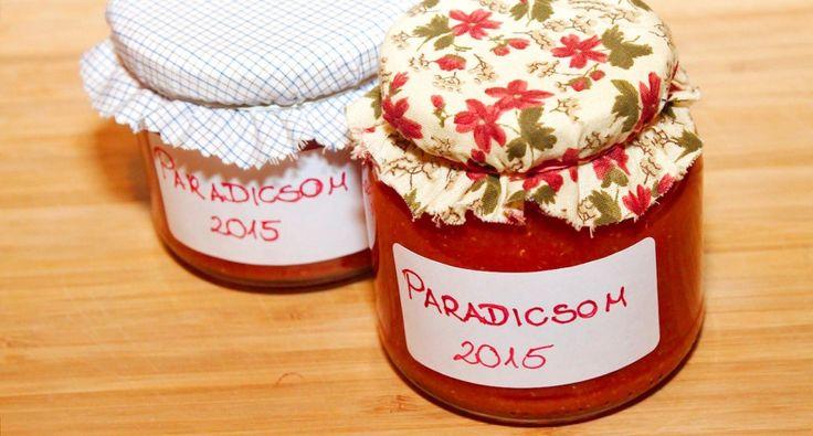 Házi sűrített paradicsom recept | APRÓSÉF.HU - receptek képekkel
