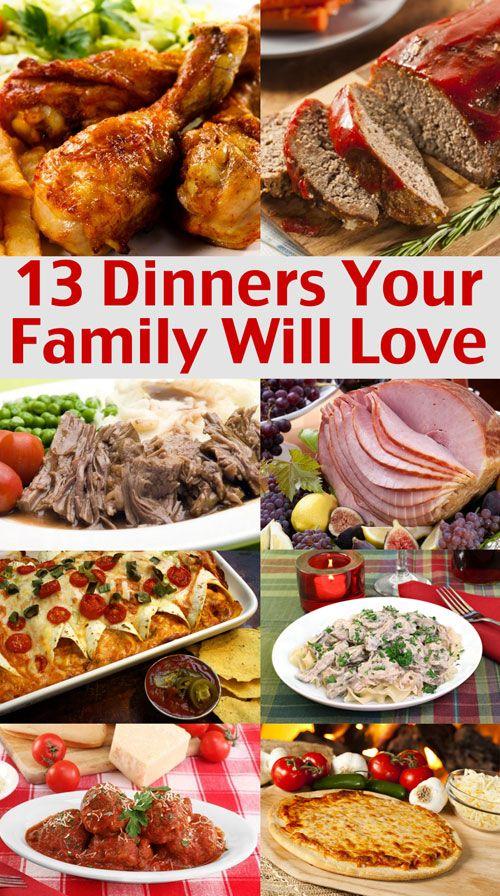 Easy family menu ideas dinners your family will love pinterest christmas dinner recipes - Christmas menu pinterest ...
