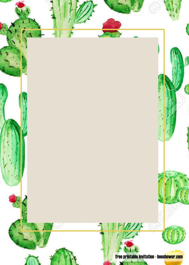 free printable cactus baby shower invitations