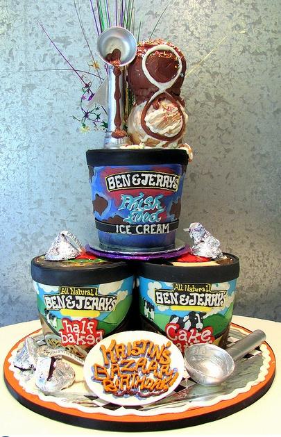 B & J Ice Cream, Cake Art