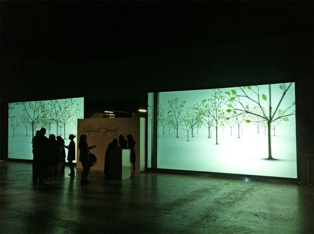 An interactive digital woodland at London's Tate Modern