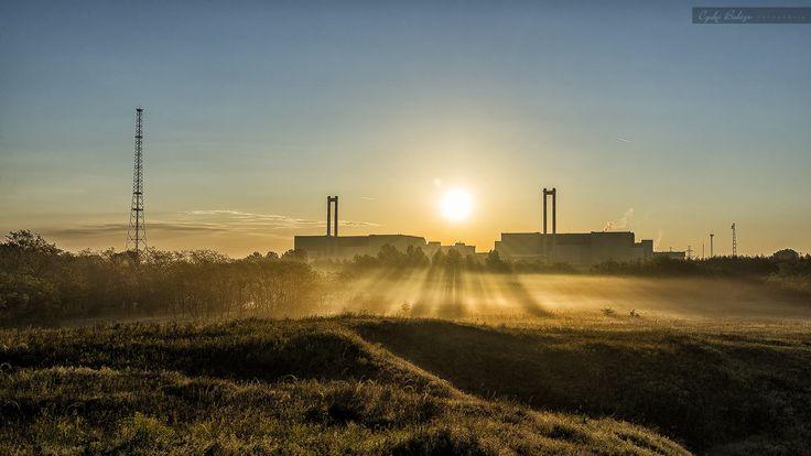 Sunrise over the Nuclear Power Plant in Hungary by Czakó Balázs on 500px