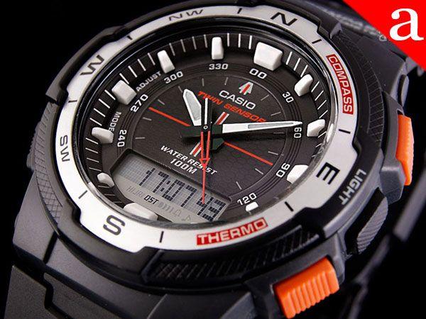 Zegarek męski CASIO - MAGNUS - kompas , termometr