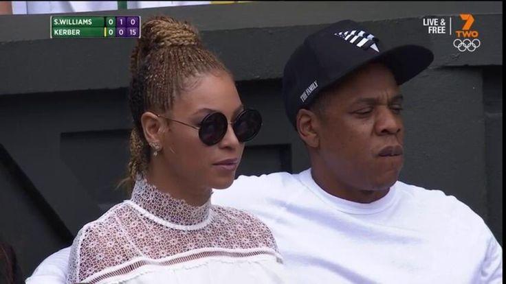 Jay-Z et Beyoncé assistent à la finale dames de Wimbledon