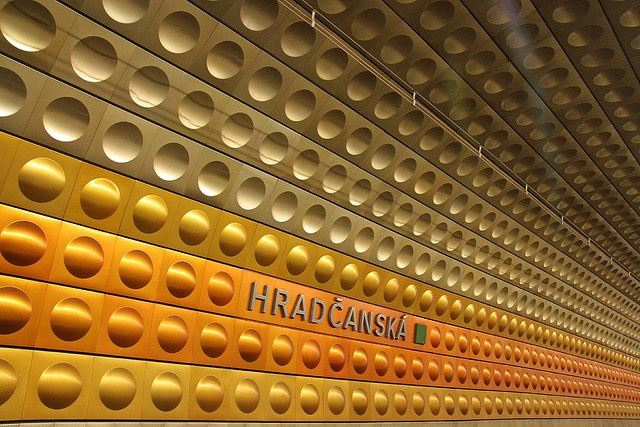 Prague metro stations - check out the set! by lloydi, via Flickr #AWomansPraugeative #OPIEuroCentrale