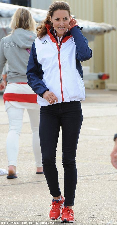 Princess Kate in Stella McCartney Adidas Team GB uniform.