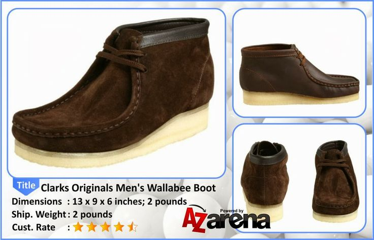 Clarks Originals Men's Wallabee Boot | Men's Clarks Wallabee Boots. World - class comfort, one - of - a - kind design! Of course, it's hard to miss the exceptional style, too. They provide an uncommonly stylish alternative to run-of-the-mill casual footwear. State Size and Color. Order Now! Men's Clarks Leather Wallabee Boots