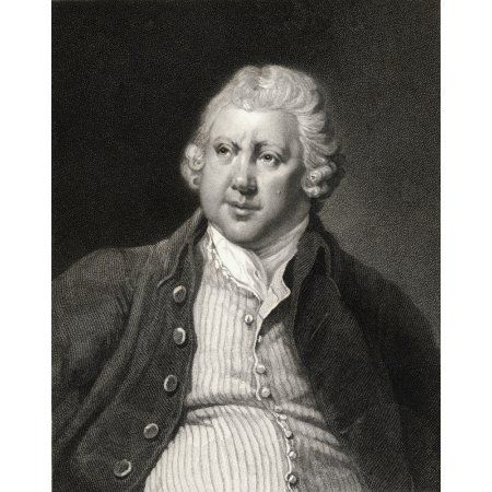 Sir Richard Arkwright 1732-1792 English Textile Industrialist And Inventor From The Book Gallery Of Portraits- Published London 1833 Canvas Art - Ken Welsh Design Pics (13 x 17)