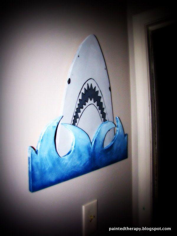 A Boy's Shark Bedroom for Shark Week | Hometalk